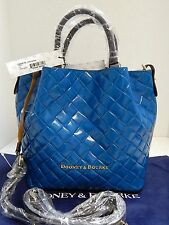 New Dooney & Bourke Small Barlow Teal Leather Satchel Convertible Crossbody nwt