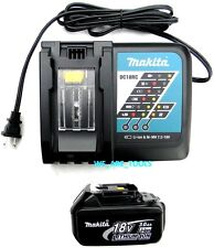New Makita (1) BL1830 Battery, DC18RC 18V Fast Charger LXT 18 Volt For Drill,Saw