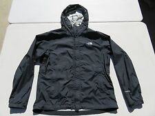 Womens North Face Black Sealed Waterproof Hyvent Hooded Light Shell Jacket Large