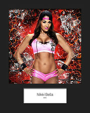NIKKI BELLA #2 (WWE) Signed 10x8 Mounted Photo Print - FREE DELIVERY