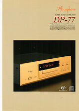 DEPLIANT accuphase dp-77 b566