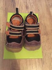 HUSH PUPPIES BABY INFANT BOY First Shoes Walkers SIZE Eu 18 Uk 2F VGC