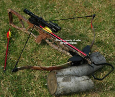 180LB CAMO HUNTING CROSSBOW +LASER+4x20 SCOPE +8 BOLTS