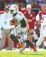 Tennessee Vols #8 MARQUEZ NORTH Signed Autographed Football 8x10 Photo COA!