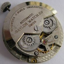 used Record 174 automatic watch movement 17 jewels for parts ... made for Baylor