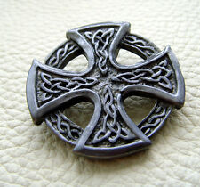 Auffällige Ziernieten Celtic Cross Schild Celtic Knoten Wikinger Germanen 3,5cm