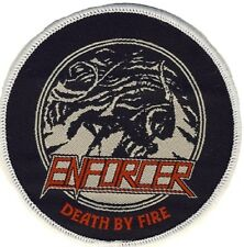 Enforcer - Death by Fire - Aufnäher / Patch - Neu - # 2380