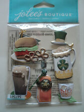 EK SUCCESS JOLEE'S BOUTIQUE ST PADDY'S DAY FOOD & DRINK STICKERS BNIP