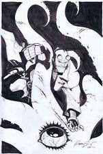 Rafael Albuquerque Hellboy Commission Original Art OG Batman Walking Dead
