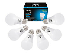 LESON LED Light Bulbs A19 E26 110V 60W Equivalent 880lm 7W Daylight (6 pack)