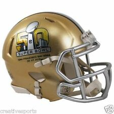 SUPER BOWL 50 RIDDELL SPEED FOOTBALL MINI HELMET - SAN FRANCISCO 02-07-2016