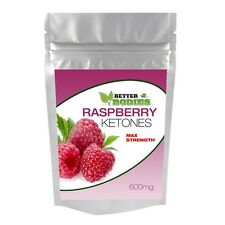 100 STRONG RASPBERRY KETONES MAX STRENGTH 600MG DIET WEIGHT LOSS SLIMMING PILLS