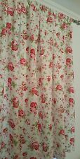 """Rosali by Cath Kidston for Ikea TAB TOP CURTAINS fully lined HANDMADE 72"""" drop"""
