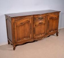 *Antique French Provincial Sideboard/Buffet/Console in Solid Oak w/Parquet Top