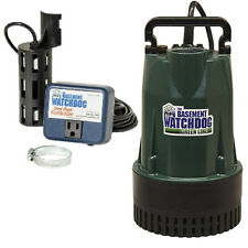 Basement Watchdog BW1050 - 1/2 HP Cast Iron Submersible Sump Pump w/ Vertical...