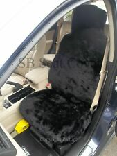 RENAULT TWINGO / MODUS CAR SEAT COVERS -BLACK FAKE PANTHER FUR -FULL SET