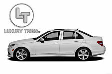 Mercedes C-Class W204 Stainless Chrome Pillar Posts by Luxury Trims 2008-2014 6p