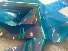 Nail art /holographic broken glass angel paper /foil Blue Holo 1 meter length