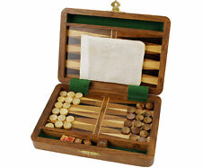 Backgammon Wooden game traditional pieces set board classic adults childs