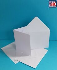 1200 x A6 100% RECYCLED WHITE BLANK GREETING CARDS WITH 100% RECYCLED ENVELOPES