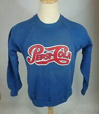NOS Vintage 80s Pepsi Cola Deadstock Sweatshirt L 50/50 Uniform Jumper Crew USA
