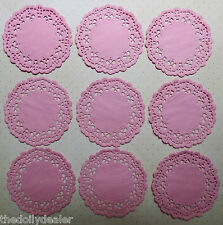 RARE DINKY PINK MARI  PAPER LACE DOILIES x 10 * IDEAL FOR TILDA & HANGLAR CARDS