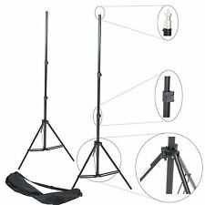 Kit 2x Trépied Pied pour Studio Photo Video Flash 220cm Support Aluminium + Sac