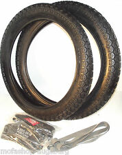 Fortune TYRES SET 2 1/4-19 45 D (OLD 23 X 2, 25) 2 TIRES + 2 TUBE +2 RIM TAPE