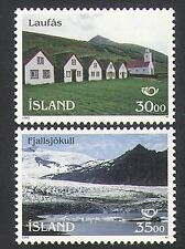 Iceland 1995 Landscapes/Glacier/Tourism/Buildings/Architecture 2v set (n34930)