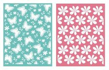 QuicKutz Lifestyle Springtime Embossing folders Set of 2  EF0007 Butterflies