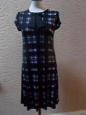 RIVER ISLAND CHELSEA GIRL PURPLE & BLACK CHECKED DRESS - UK SIZE 6