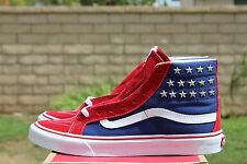 VANS SK8 HI SLIM SZ 6.5 STUDDED STARS RED WHITE BLUE VN 018IH0F