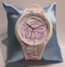Schlumpfine limited Edition * Art watch Quarz Uhr *Motiv Smurfette * lila weiß