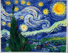 "Handmade oil on canvas reproduction of Starry night by Van Gogh 16""x20"""