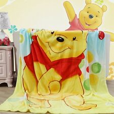 "KAWAII Winnie the Pooh Plush Soft Silky Flannel Blanket Throw Bedding 79""x59"""