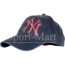 Mens New Era NY Yankees Burnout Logo Navy Blue Trucker Baseball Cap Size