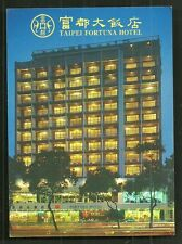 Taipei Fortuna Hotel Formosa Taiwan mixed franking 2 stamps
