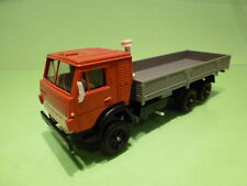 MADE IN USSR KAMAZ 53212 TRUCK LONG BED - RED + GREY 1:43 - VERY GOOD CONDITION