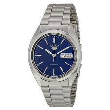 Seiko 5 Automatic Blue Dial Stainless Steel Mens Watch SNXF03