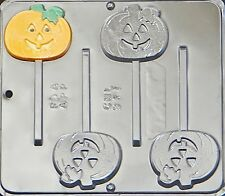 Pumpkin Jack O Lantern Lollipop Chocolate Candy Mold Halloween  941 NEW