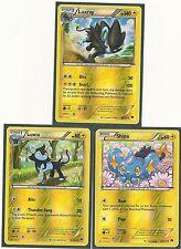 3 XY BREAKPoint EVO Pokemon Cards-RARE LUXRAY+LUXIO+SHINX ALL REV HOLO MINT