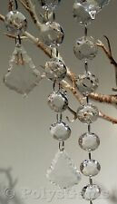 5 ACRYLIC CRYSTAL GARLANDS AND TEAR DROPLET WEDDING CHRISTMAS TREE DECORATIONS