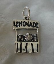 1 Sterling Silver 21x19mm says Lemonade Stand with Child Food Charm