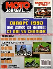 MOTO JOURNAL 1040 INDIAN YAMAHA Virago 750 Nevada GUZZI SUZUKI 800 Intruder 1992