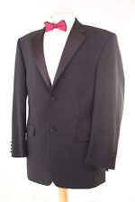 MOSS BROS MEN'S BLACK EVENING TUXEDO DINNER SUIT 40R DRY-CLEANED