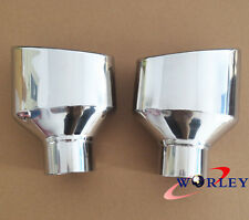 "FOR 2 3/4"" inlet Stainless Steel oval rolled angle cut Exhaust Tip 8"" long"