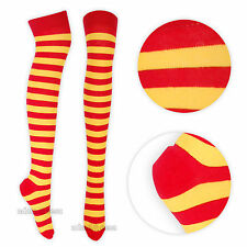Womens Over the Knee Striped Socks Valentines Gift UK 4-6.5 Halloween Costume