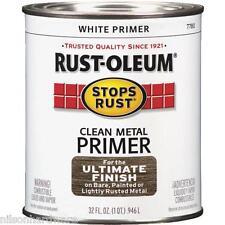 2 Qt White 400 VOC RustOleum Stops Rust Clean Metal Paint Primer 7780-502