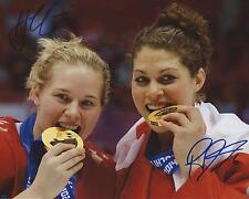Haley Irwin + Rebecca Johnston Signed 8×10 Photo Team Canada Sochi Olympics COA