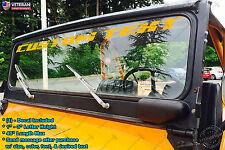 Custom Text Windshield Vinyl Decal Sticker Fits Jeep Wrangler TJ JK XJ YJ CJ